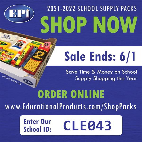 2021-2022 School Supplies Online Order