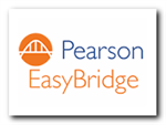 Graphic logo with hyperlink to Pearson Easy Bridge.
