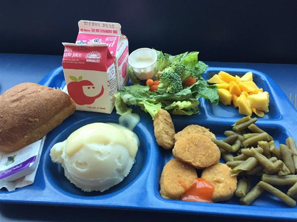 Image of school lunch meal